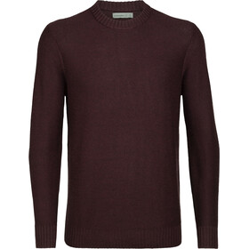 Icebreaker Waypoint Crew Sweater Men merlot heather